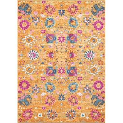 Bethesda Yellow Indoor  Area Rug Rug Size: 53 x 73