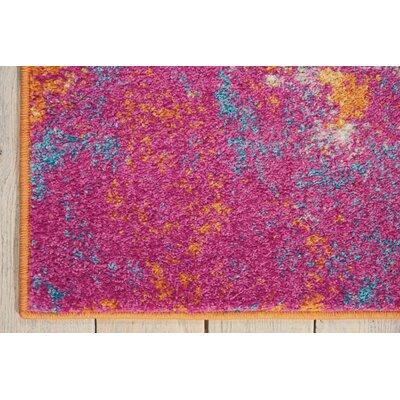Bethesda Pink/Yellow Area Rug Rug Size: 53 x 73