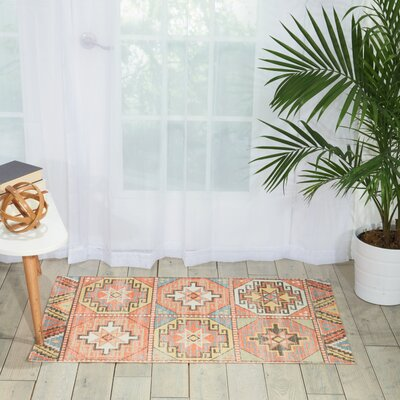 Peidmont Light Orange Area Rug Rug Size: 23 x 39