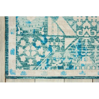 Bungalow Rose Union Point Teal Area Rug