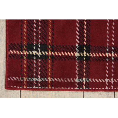 Brechin Red Plaid Area Rug Rug Size: 710 x 910