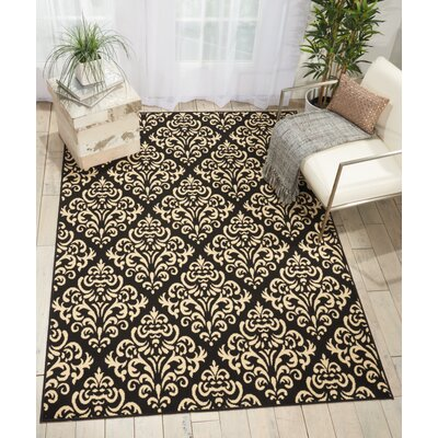 Bolivia Black Indoor Area Rug Rug Size: Rectangle 710 x 910