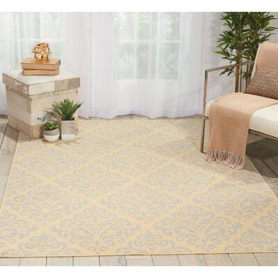 Bolivia Cream Indoor Area Rug Rug Size: Rectangle 53 x 73