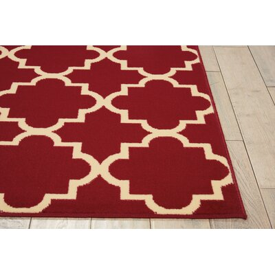 Brechin Red Geometric Area Rug Rug Size: 710 x 910