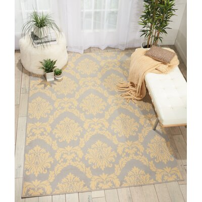 Bolivia Gray Indoor Area Rug Rug Size: 53 x 73