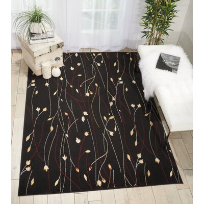 Nash Black Indoor Area Rug Rug Size: Rectangle 53 x 73