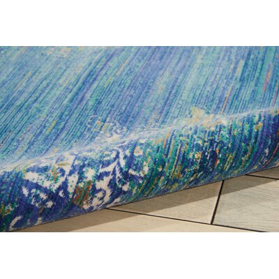 Devan Teal Indoor Area Rug Rug Size: 910 x 132