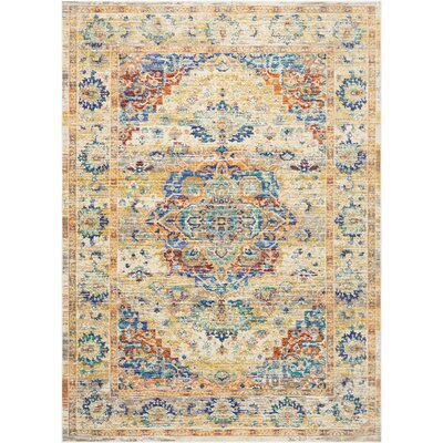 Devan Cream Indoor Area Rug Rug Size: 53 x 73