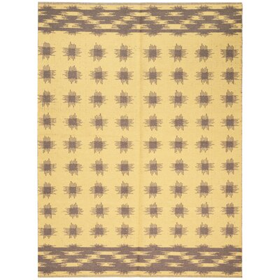 One-of-a-Kind Leach Hand-Woven Brown/Gold Indoor Area Rug