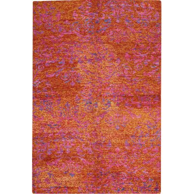 Emmitt Hand-Woven Red/Gold Indoor Area Rug