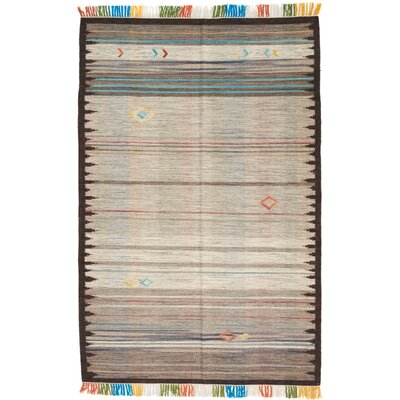 Leach Hand-Woven Gray Indoor Area Rug