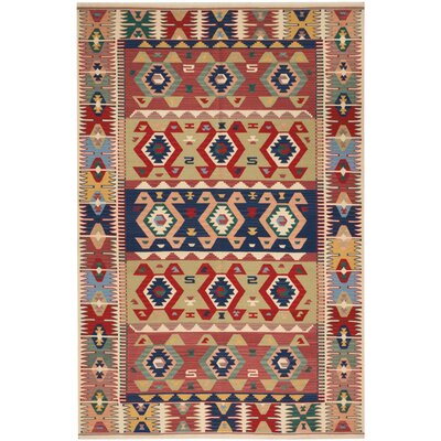 Burley Hand-Knotted Brown/Red Indoor Area Rug