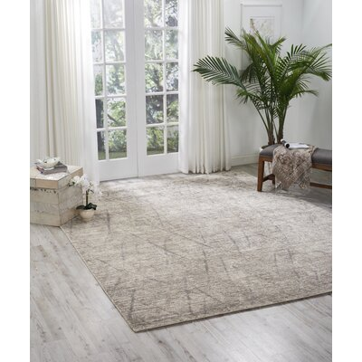 Carter Hand-Knotted Ash Area Rug Rug Size: Rectangle 99 X 139