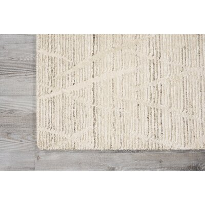 Carter Hand-Knotted Pearl Area Rug Rug Size: Rectangle 79 X 99