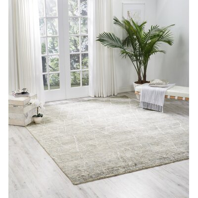 Carter Hand-Knotted Surf Area Rug Rug Size: Rectangle 86 X 116