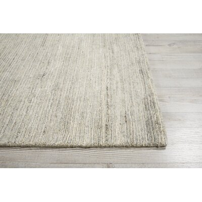 Carter Hand-Knotted Mist Area Rug Rug Size: Rectangle 56 X 75