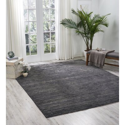 Carter Hand-Knotted Onyx Area Rug Rug Size: Rectangle 56 X 75