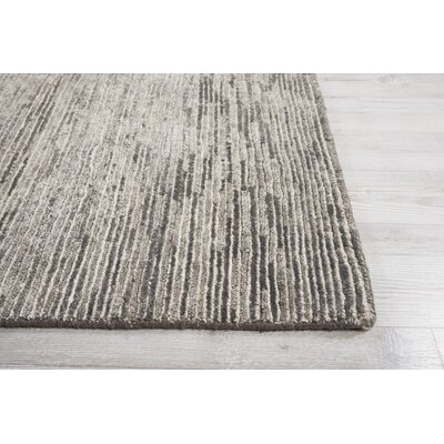 Carter Hand-Knotted Pebble Area Rug Rug Size: Rectangle 56 X 75
