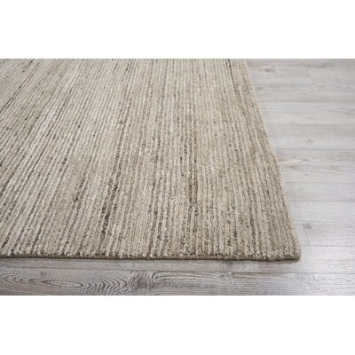 Carter Hand-Knotted Sand Area Rug Rug Size: Rectangle 99 X 139