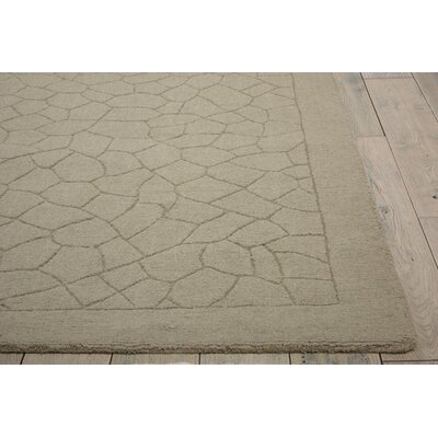 Downridge Hand-Tufted Wool Light Green Area Rug Rug Size: Rectangle 53 x 74