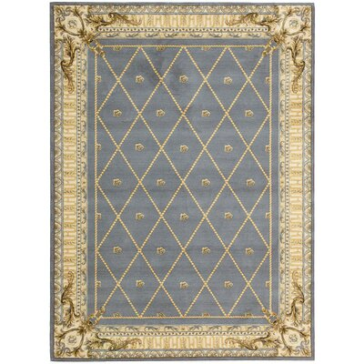 Payzley Wool Blue Area Rug
