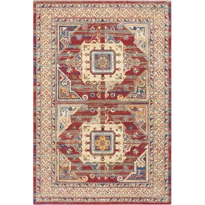 Landen Hand-Woven Brick Area Rug Rug Size: Rectangle 93 x 129