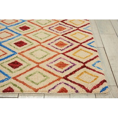 Zosia Hand Tufted Wool Ivory Indoor Area Rug Rug Size: Rectangle 4 x 6