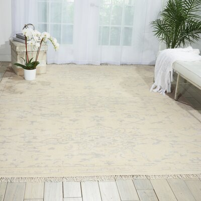Haddou Hand-Knotted Ivory Area Rug Rug Size: Rectangle 56 x 8