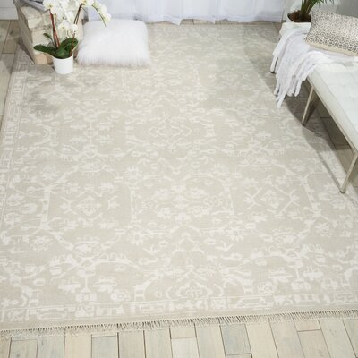 Haddou Hand-Knotted Light Gray Area Rug Rug Size: 86 x 116