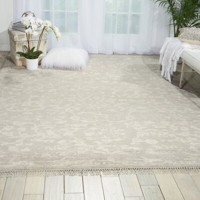 Haddou Hand-Knotted Silver Area Rug Rug Size: Rectangle 56 x 8