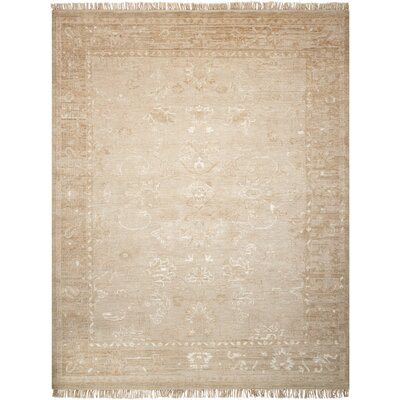 Haddou Hand-Knotted Gold Area Rug Rug Size: Rectangle 56 x 8