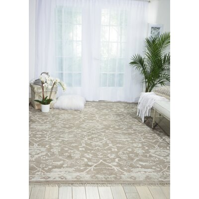 Haddou Hand-Knotted Gray Area Rug Rug Size: Rectangle 99 x 139