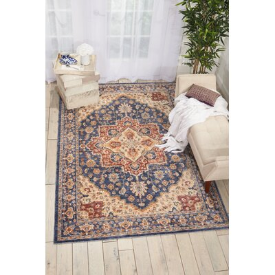 Westbrook Oriental Blue Area Rug Rug Size: Square 5