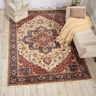 Westbrook Oriental Cream Area Rug Rug Size: 3 x 5