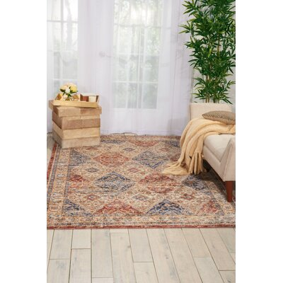 Westbrook Red/Blue Area Rug Rug Size: 83 x 116