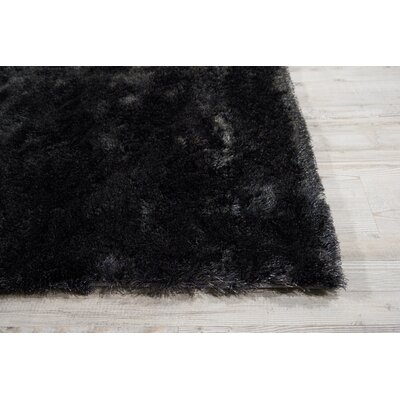 Pilipenko Hand-Tufted Charcoal Area Rug