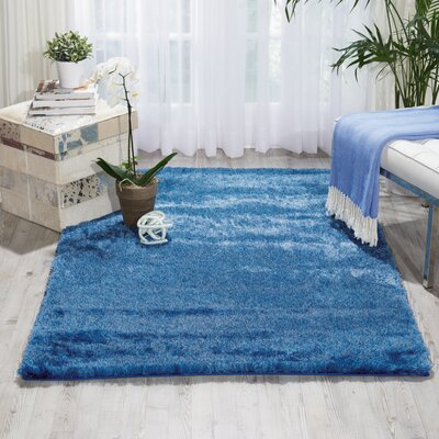 Pilipenko Hand-Tufted Light Blue Area Rug