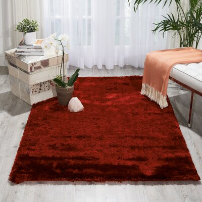 Pilipenko Hand-Tufted Ruby Area Rug