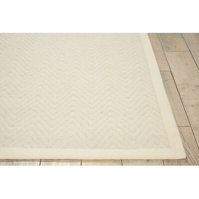 Uleena Hand-Woven Ivory Area Rug Rug Size: Rectangle 5 x 76