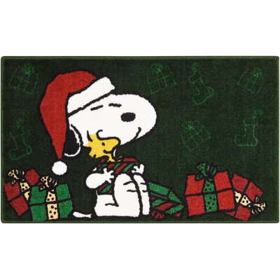 Peanuts Buddies Green Area Rug