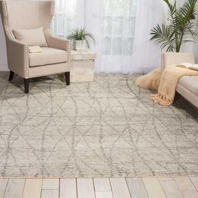 Aroon Hand-Knotted Stone Area Rug Rug Size: Rectangle 56 x 75
