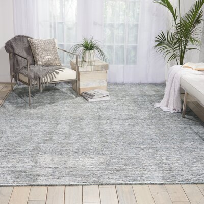 Aroon Hand-Knotted Slate Area Rug Rug Size: Rectangle 99 x 139