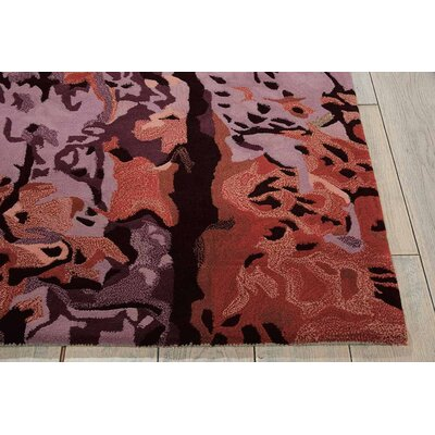 Annan Hand Tufted Crimson/Black Indoor Area Rug