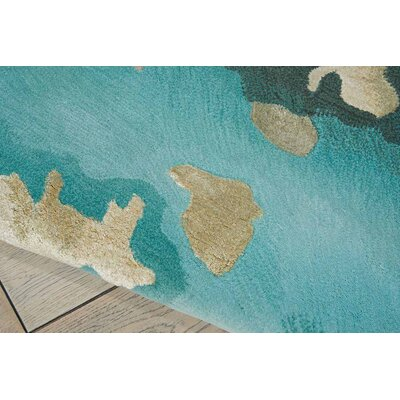 Prismatic Hand Tufted Aqua Indoor Area Rug