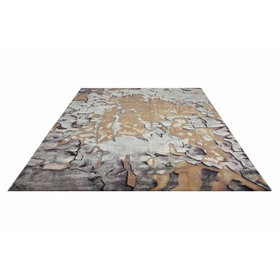 Prismatic Hand Tufted Beige/Silver Indoor Area Rug
