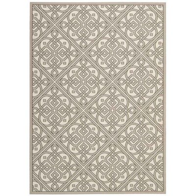 Sun n Shade Hand Tufted Stone Indoor/Outdoor Area Rug Rug Size: Rectangle 3 x 5