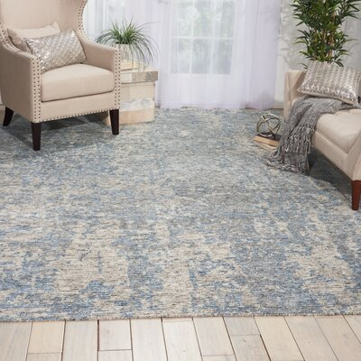 Aroon Hand-Knotted Graphite Area Rug Rug Size: 99 x 139