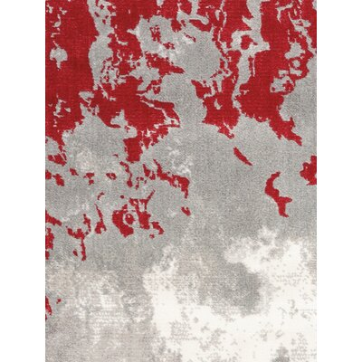 Antigua Gray/Red Indoor Area Rug
