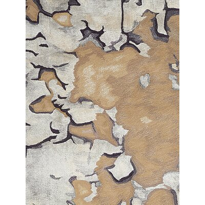 Annan Hand Tufted Beige/Silver Indoor Area Rug