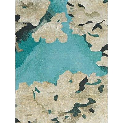 Annan Hand Tufted Aqua Indoor Area Rug